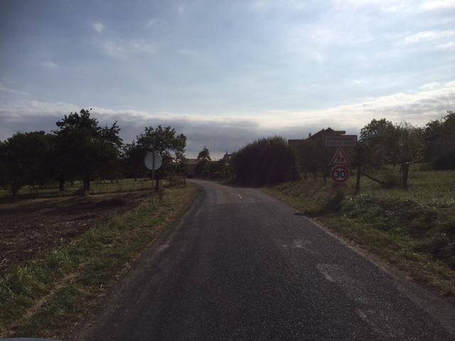 L'entrée du village côté Girauvoisin