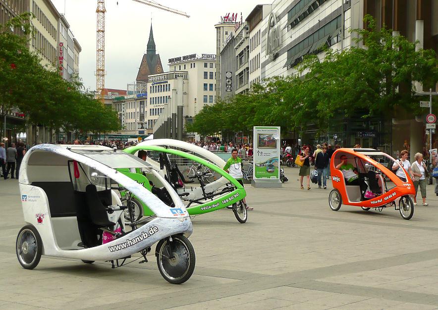 Fahrradtaxis am Hauptbahnhof