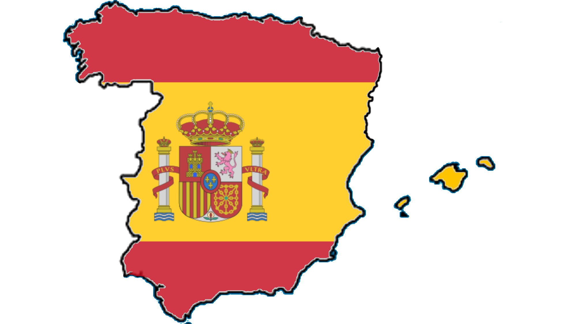 File Flag Map Of Spain Without Catalonia Png Wikimedia Commons