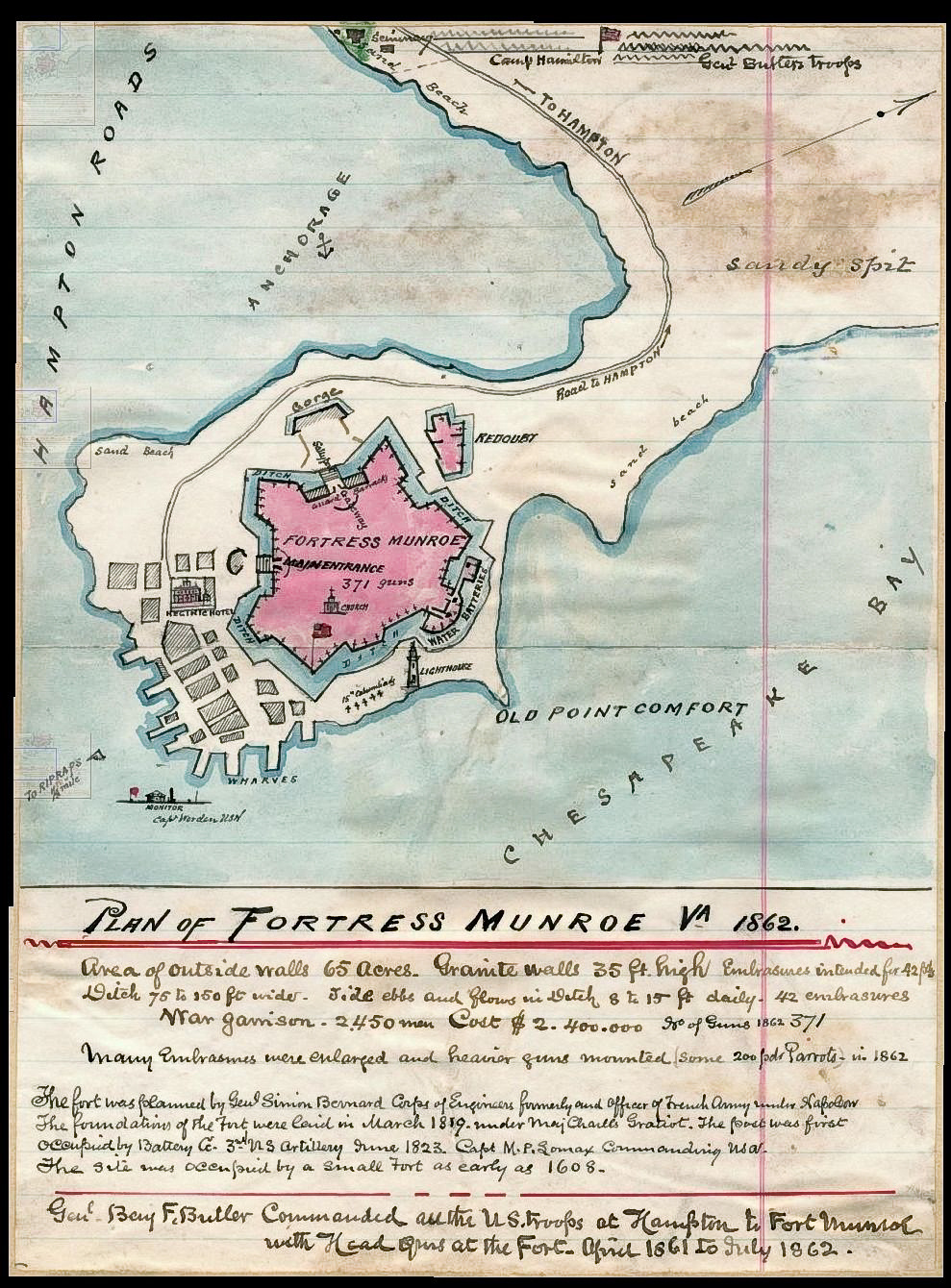 Fort monroe map hd walls find wallpapers