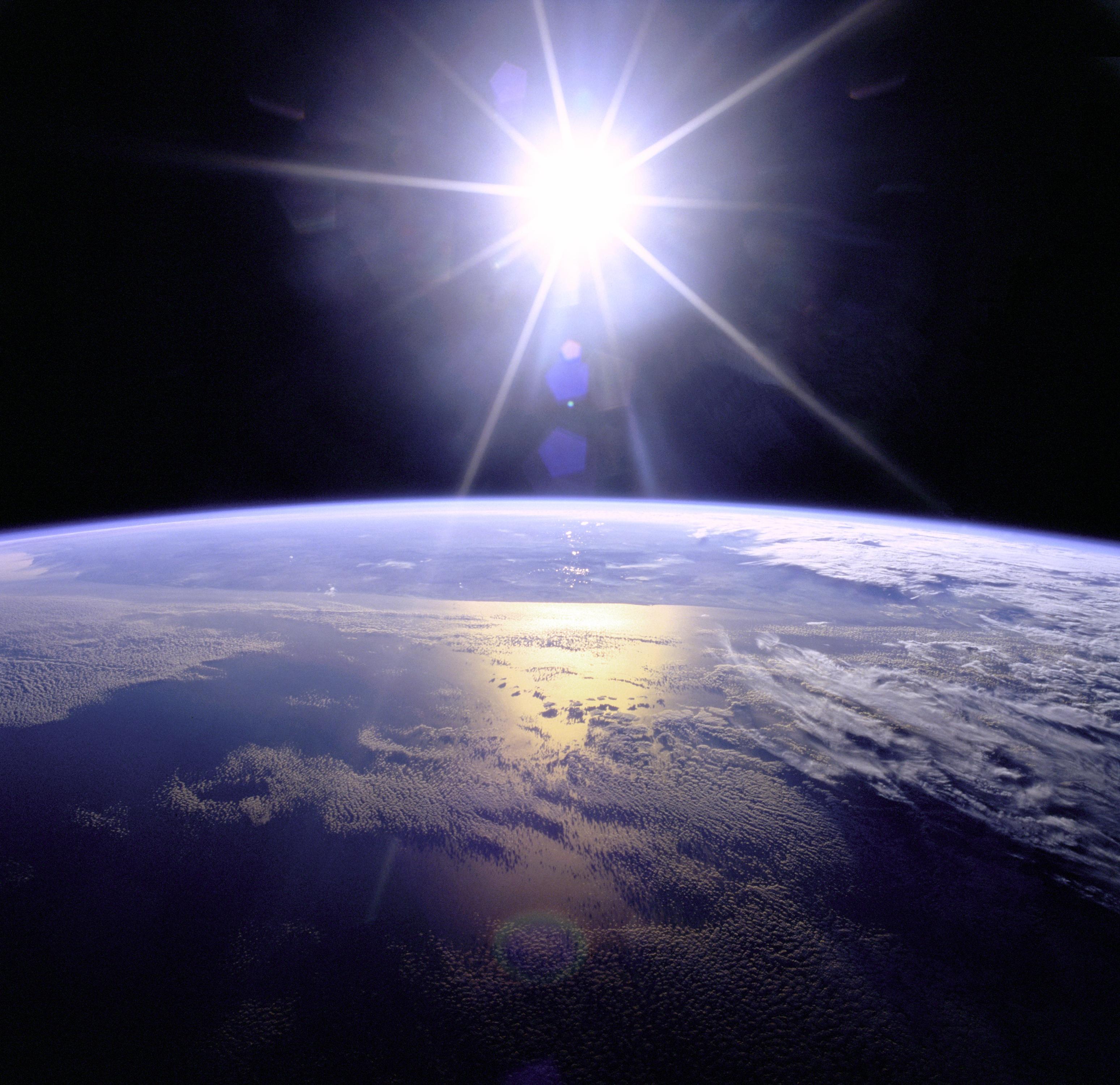 Full Sunburst over Earth found on Wikipedia