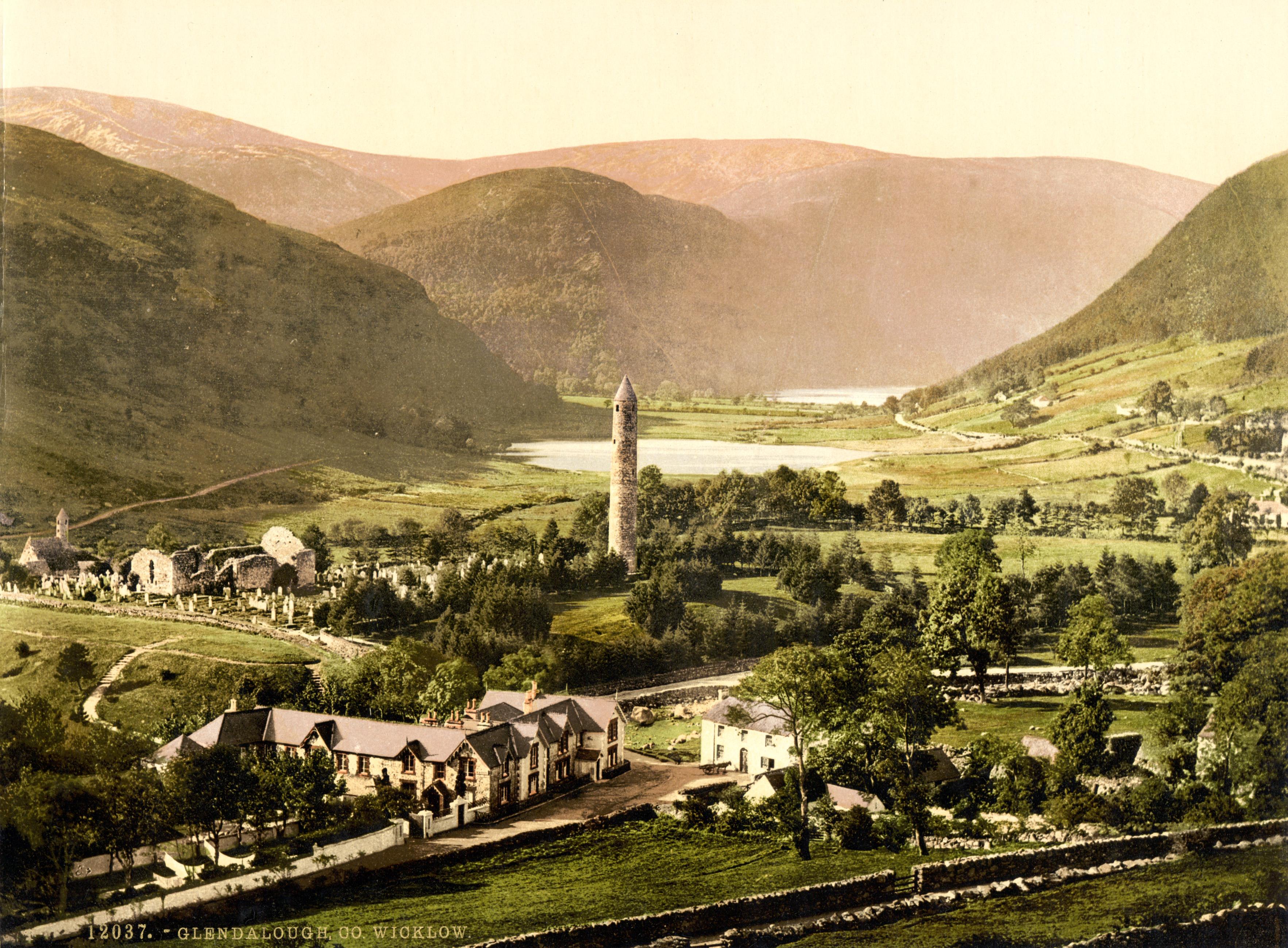 Wicklow Ireland  City pictures : Description Glendalough, County Wicklow, Ireland, 1890s