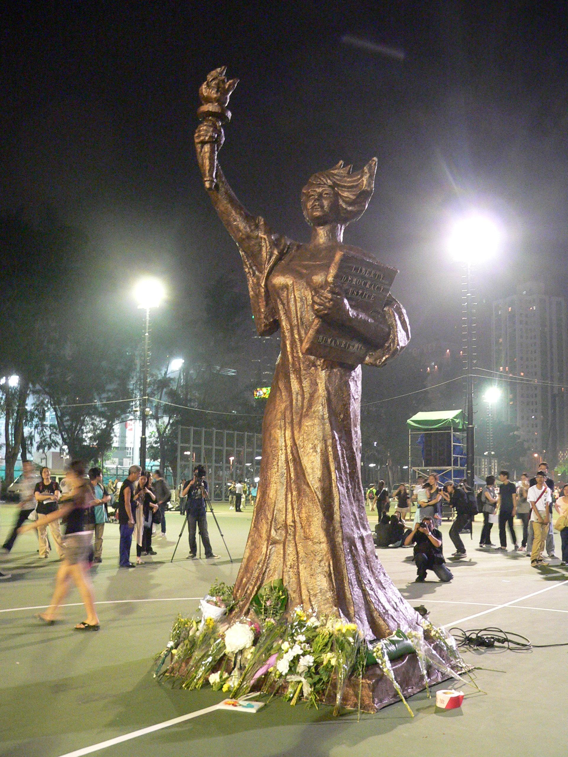 Image result for hong kong  goddess of democracy