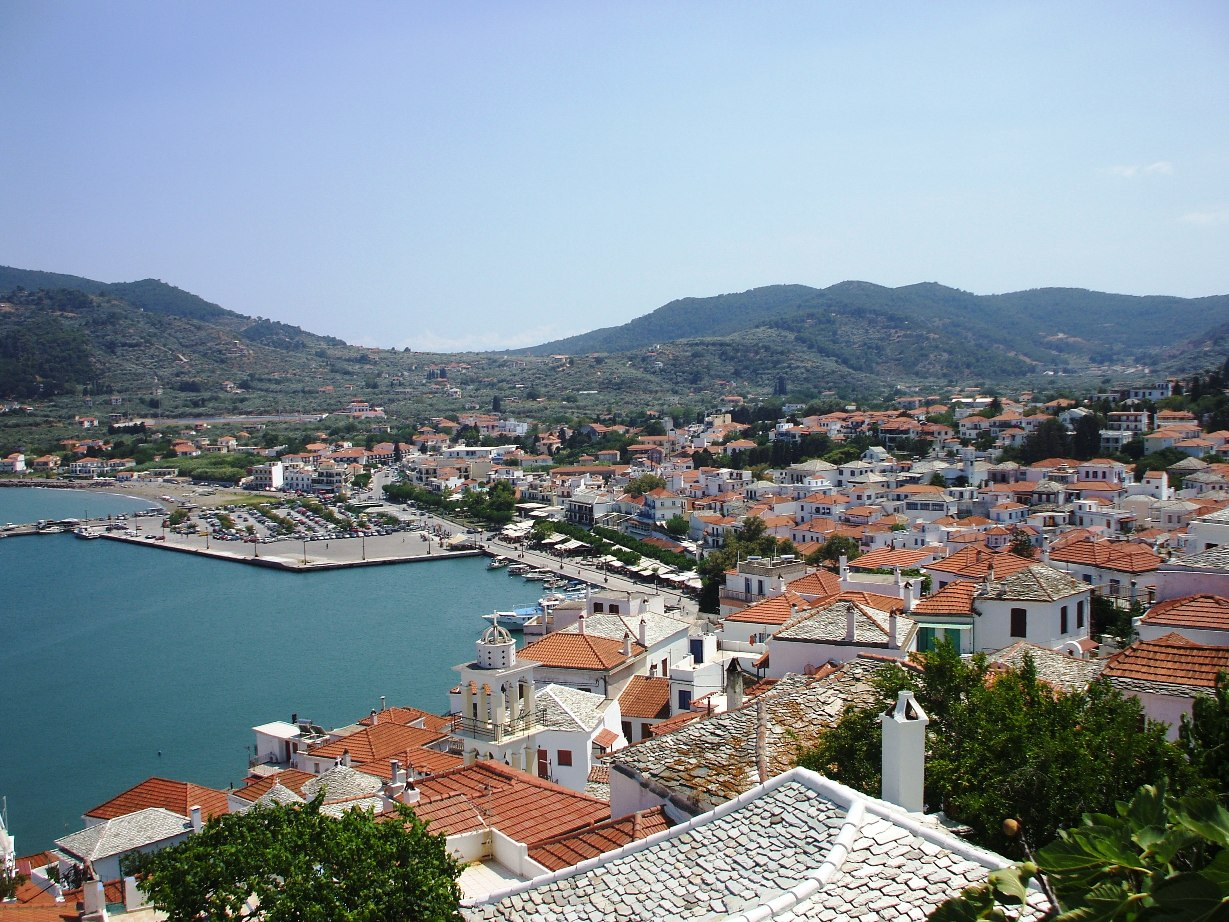 Skopelos Greece  city photos : Grad Skopelos sa brda Skopelos town from hill