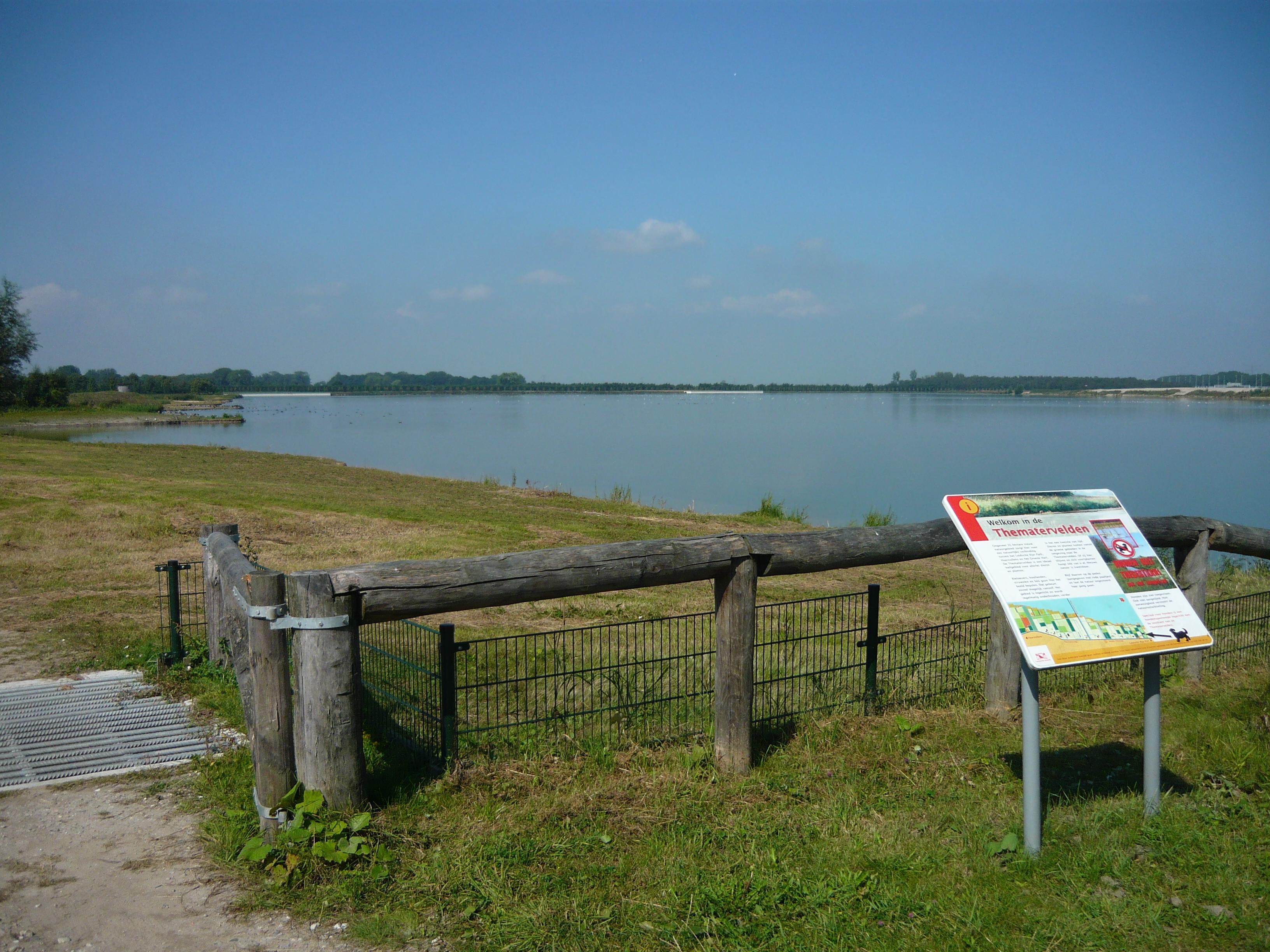 File haarrijnseplas noordelijke deel met infobord wikimedia commons - Noordelijke deel ...