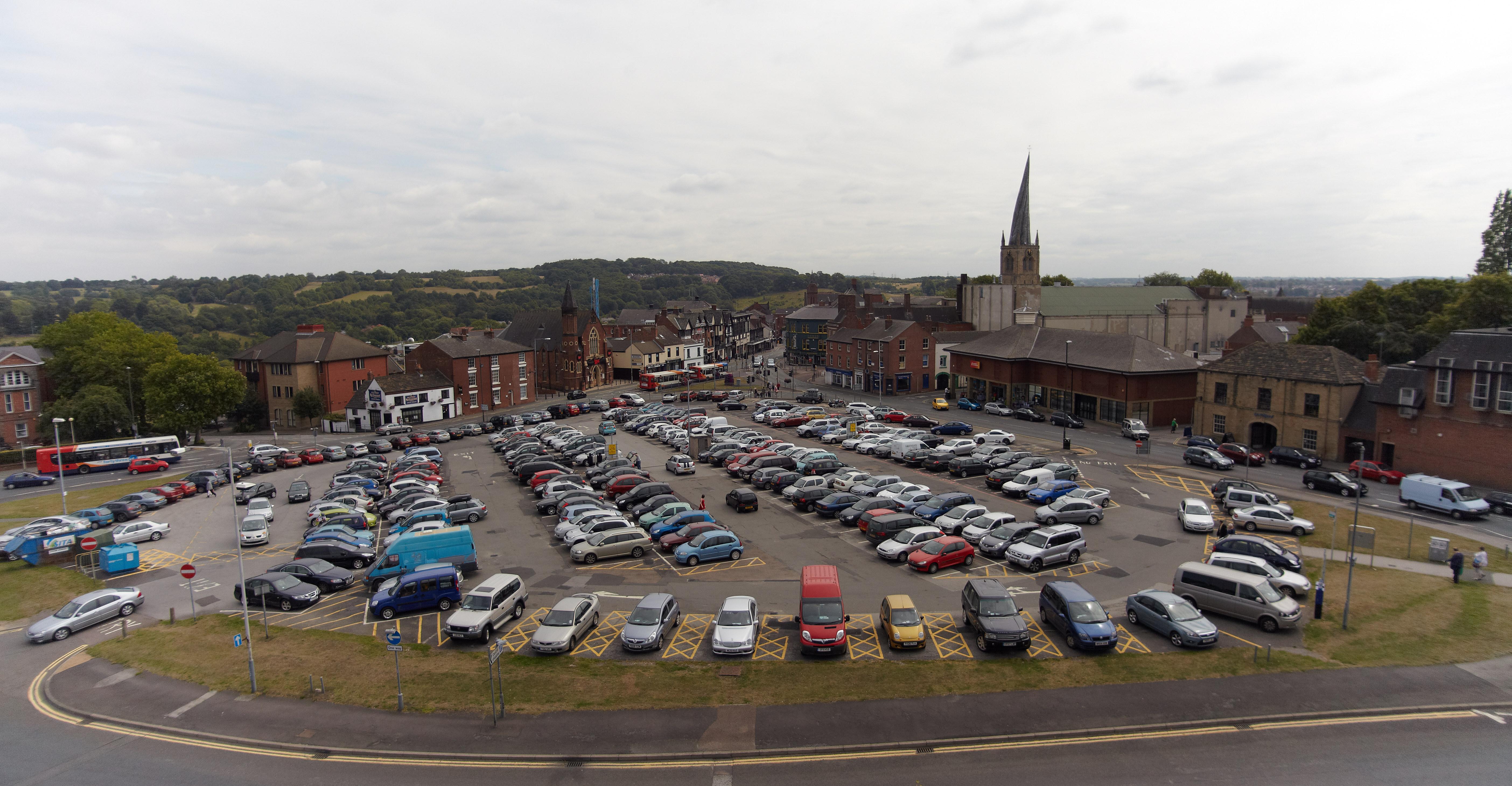 Holywell Kreuz Parkplatz Chesterfield
