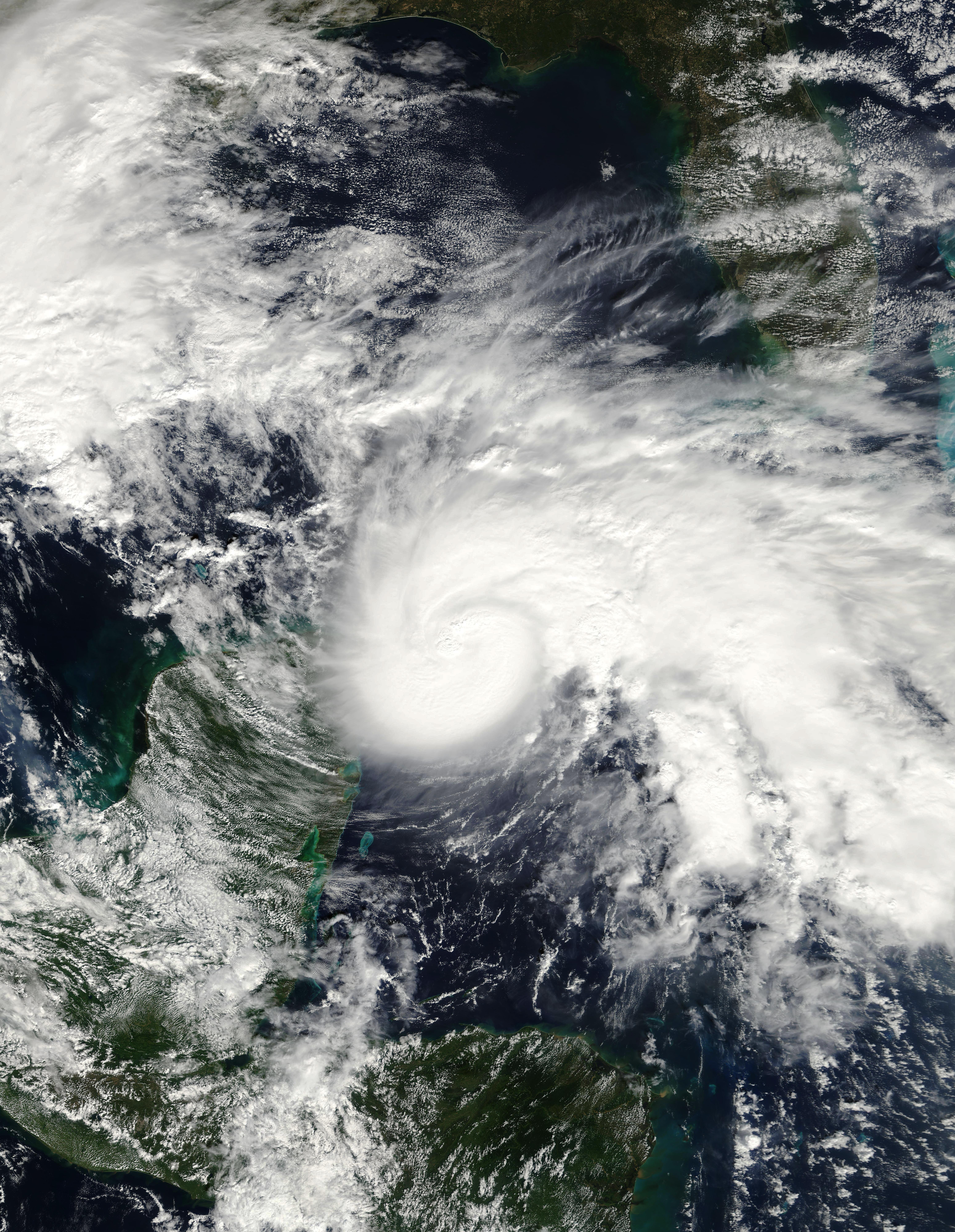 Description Hurricane Ida in the Yucatan Channel November 8 2009.jpg