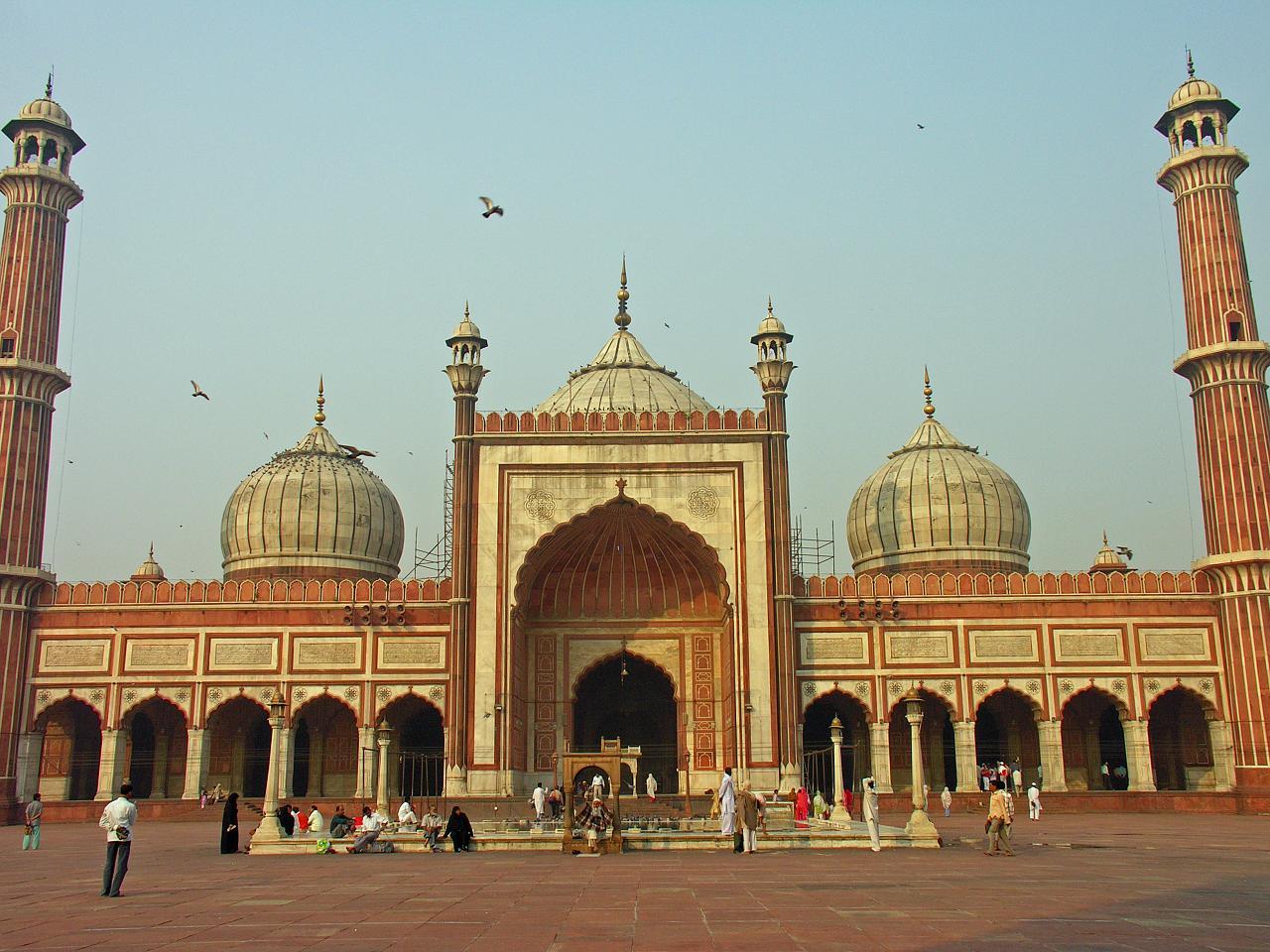 File Jama Masjid Delhi Main Facade Jpg Wikimedia Commons