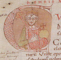 King Conrad, from the Codex Eberhardi, c. 1150