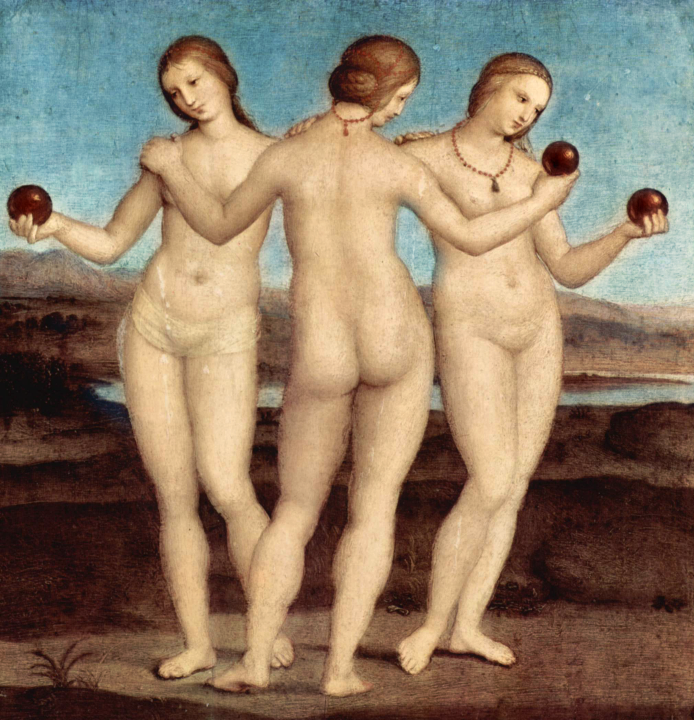 The Three Graces Paintings by Rafael