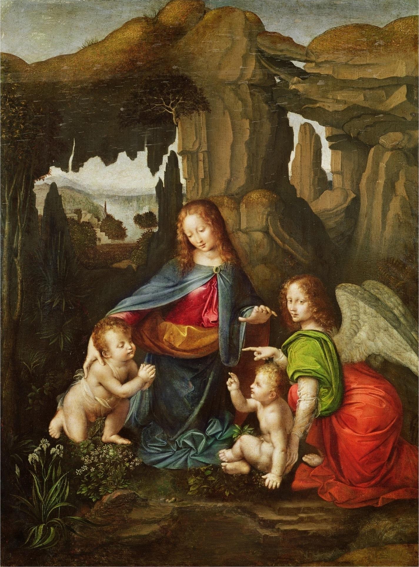 File Leonardo Da Vinci D Apres La Vierge Aux Rochers Musee Des Beaux Arts De Caen Jpg Wikimedia Commons