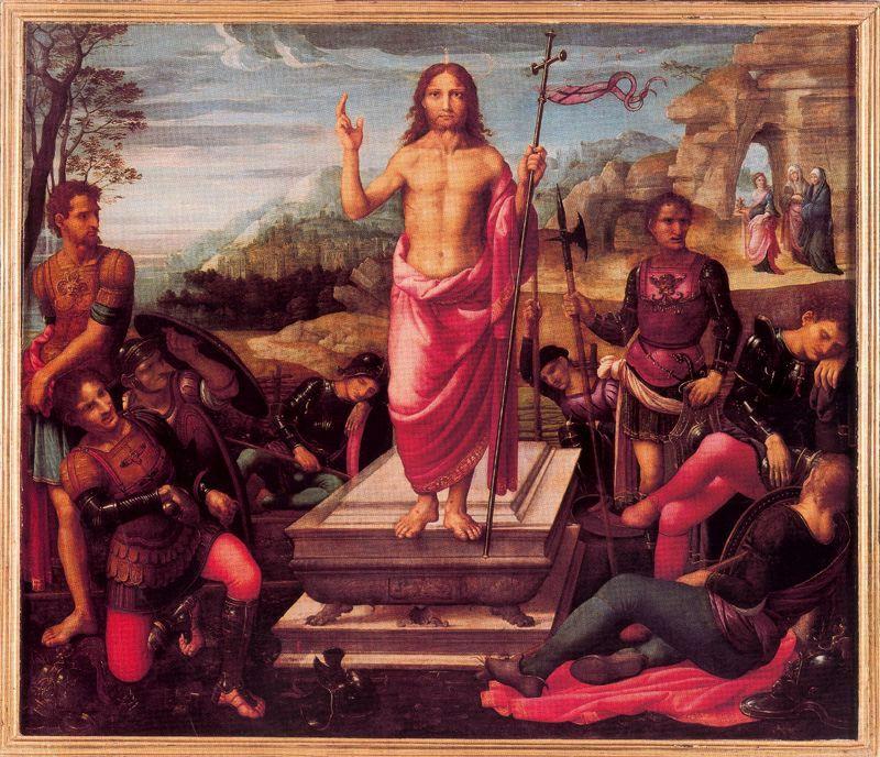 La Resurrección, de Fernando de los Llanos. Retablo de la Catedral de Valencia.
