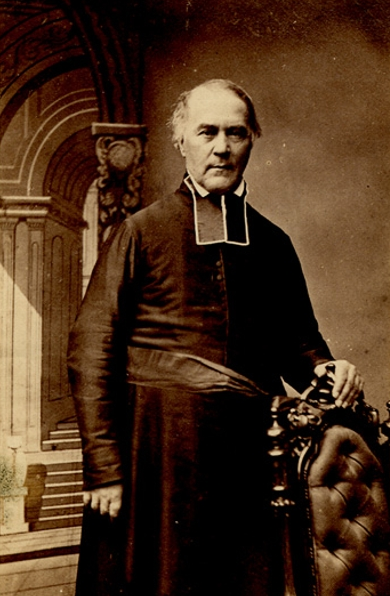 Titre original:    Description Louis Proulx, secular priest, educator, writer, parish priest, and vicar general Date c.1861 Source This image is available from the Bibliothèque et Archives nationales du Québec under the reference number P560,S2,D1,P1064 This tag does not indicate the copyright status of the attached work. A normal copyright tag is still required. See Commons:Licensing for more information. Boarisch| Česky| Deutsch| Zazaki| English| فارسی| Suomi| Français| हिन्दी| Magyar| Македонски| Nederlands| Português| Русский| Tiếng Việt| +/− Author Livernois Artiste Photographe