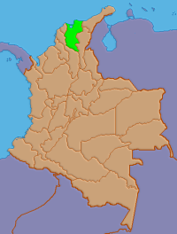 Location of Magdalena