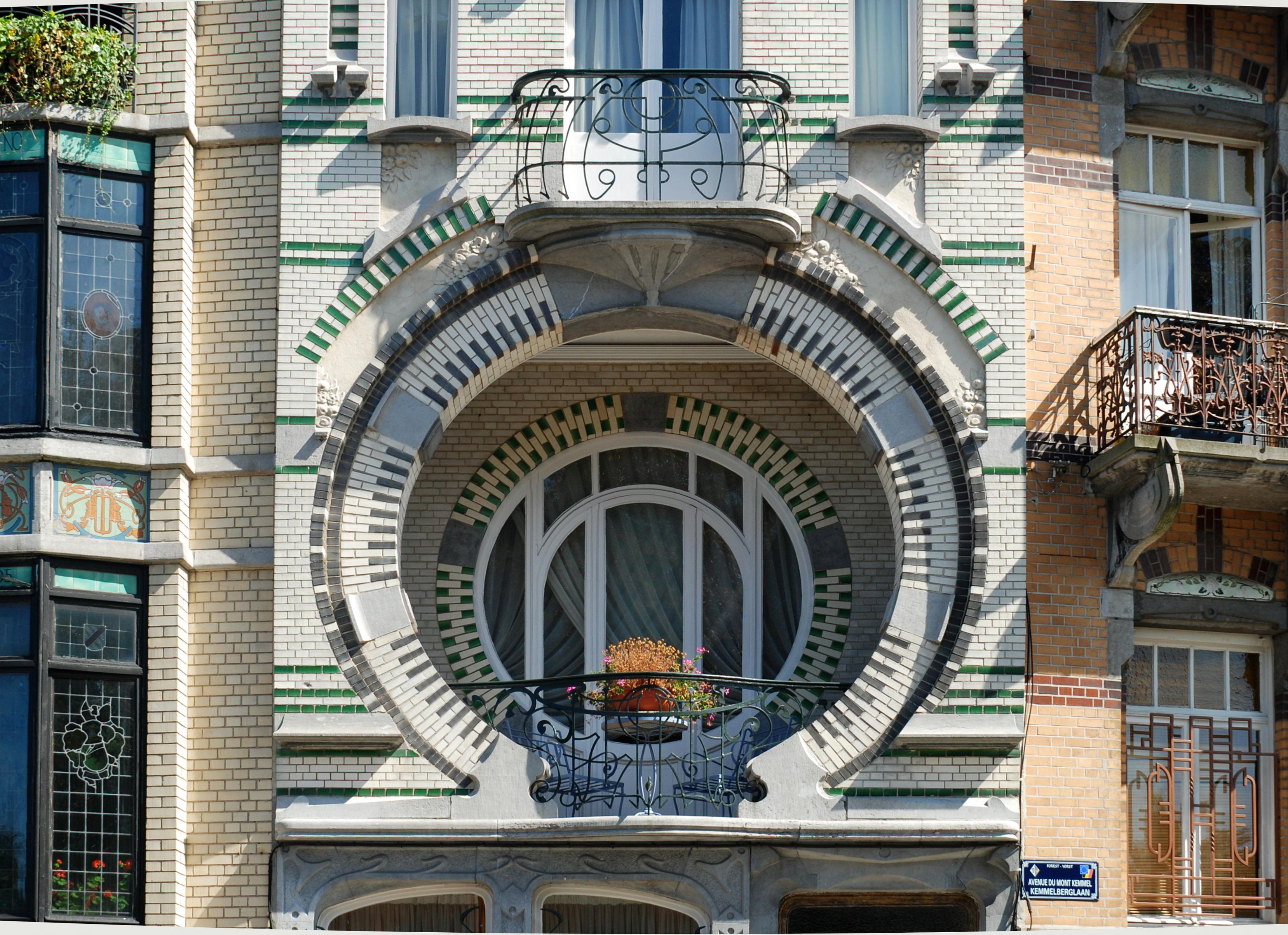 File maison nelissen 09 jpg wikimedia commons - Modern art nouveau architecture ...