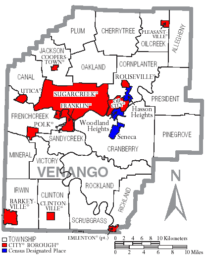 FileMap Of Venango County Pennsylvania With Municipal And - Map of cities in pennsylvania