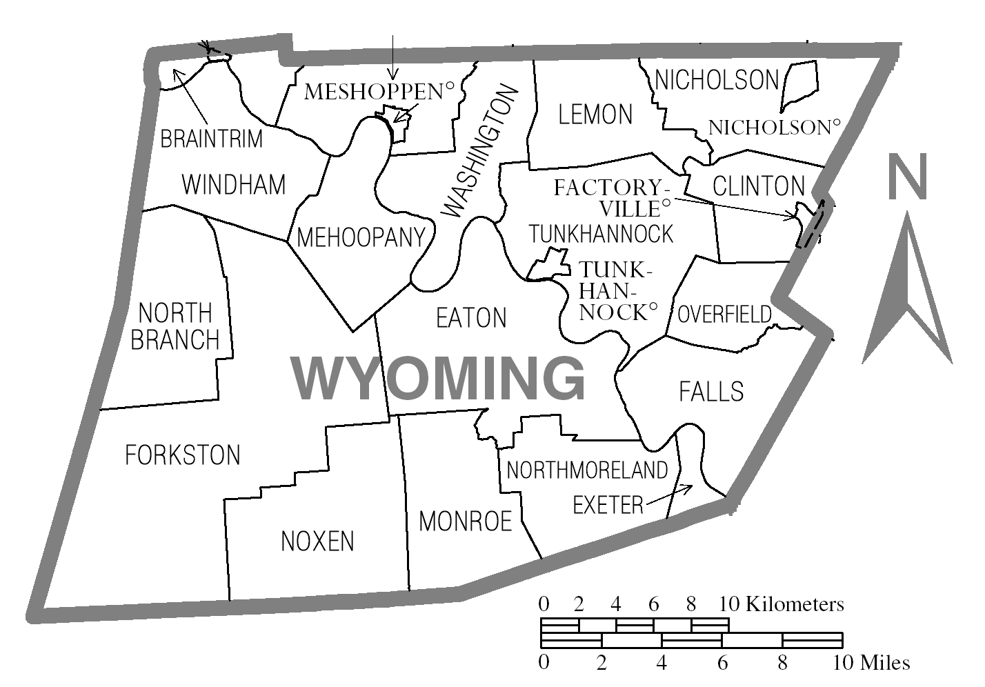 FileMap Of Wyoming County Pennsylvaniapng Wikimedia Commons - Wyoming county maps
