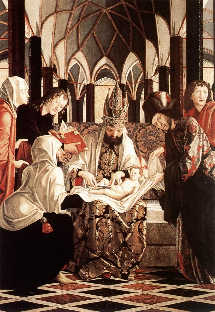 https://upload.wikimedia.org/wikipedia/commons/3/33/Michael_Pacher_-_St_Wolfgang_Altarpiece_-_Circumcision_-_WGA16822.jpg