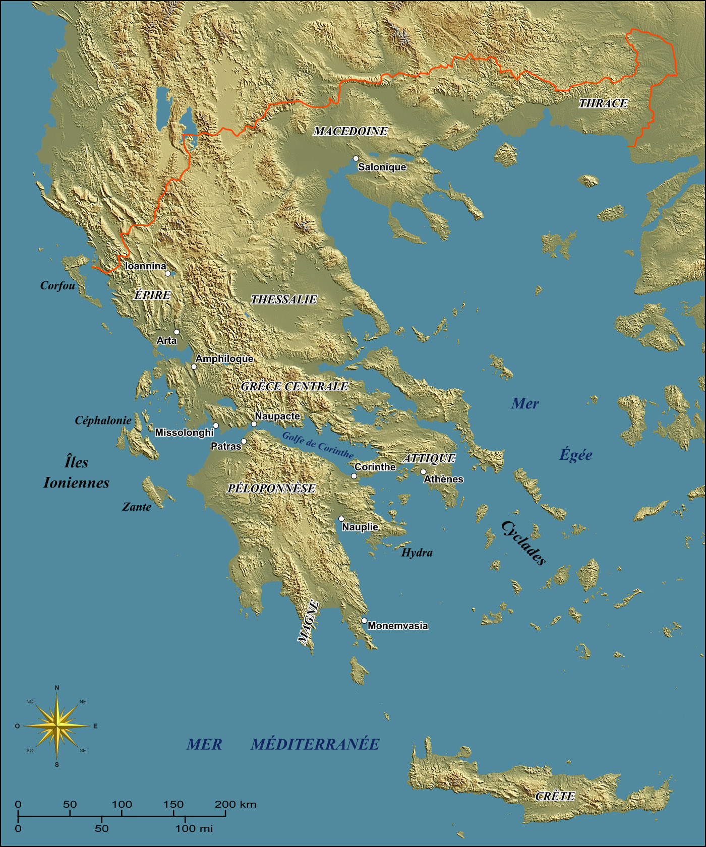 Map Of Greece Ad Islands