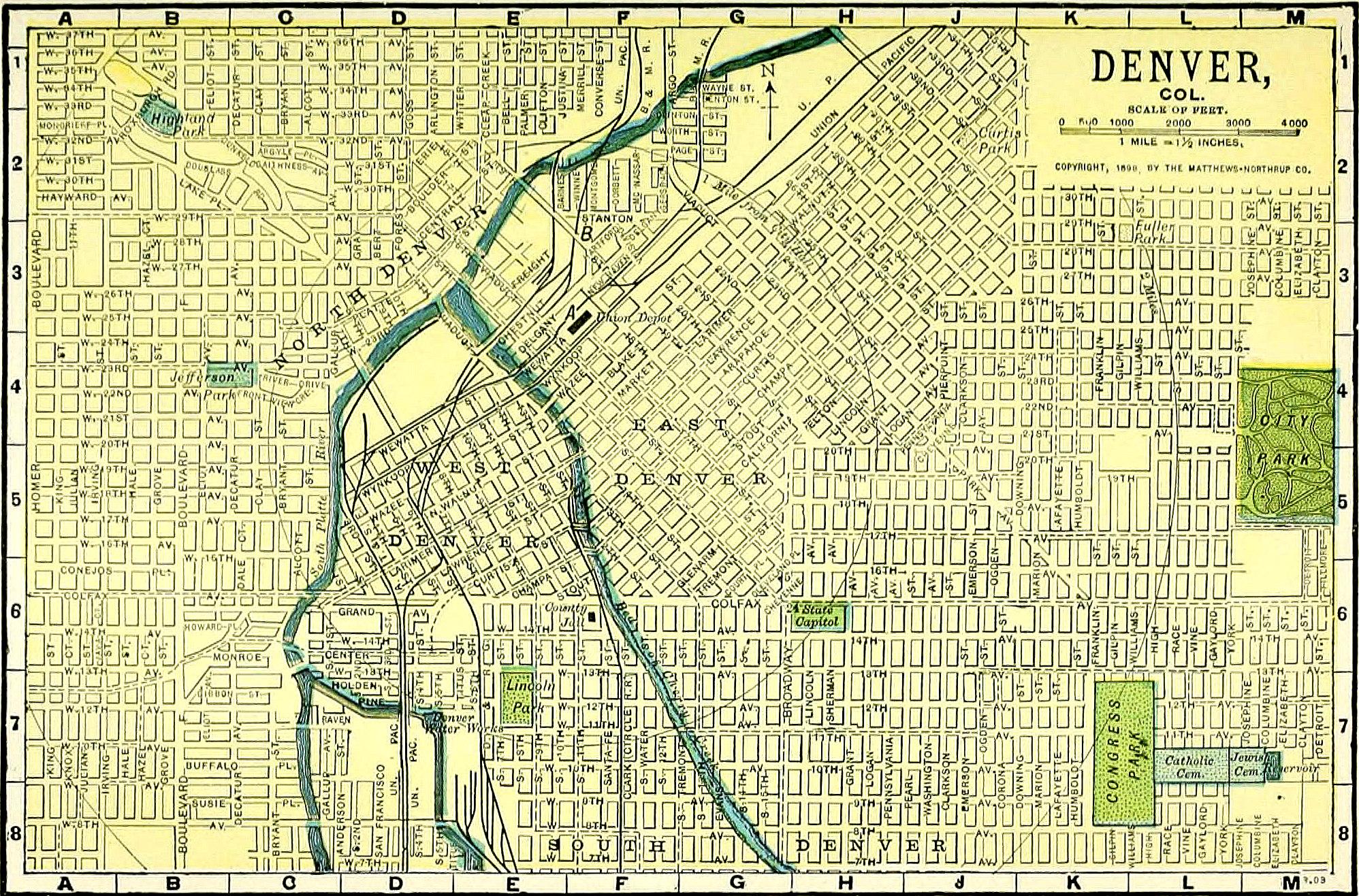 street map of denver Street System Of Denver Wikiwand street map of denver