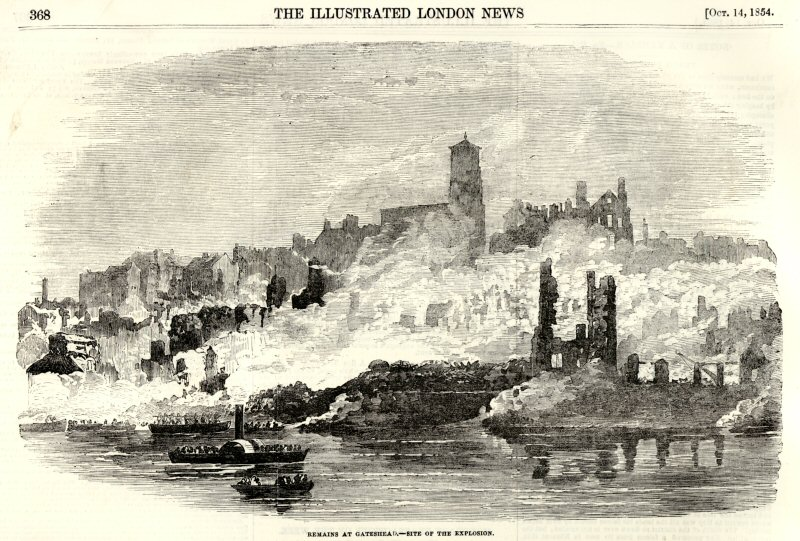 Great Fire Of Newcastle And Gateshead Wikipedia