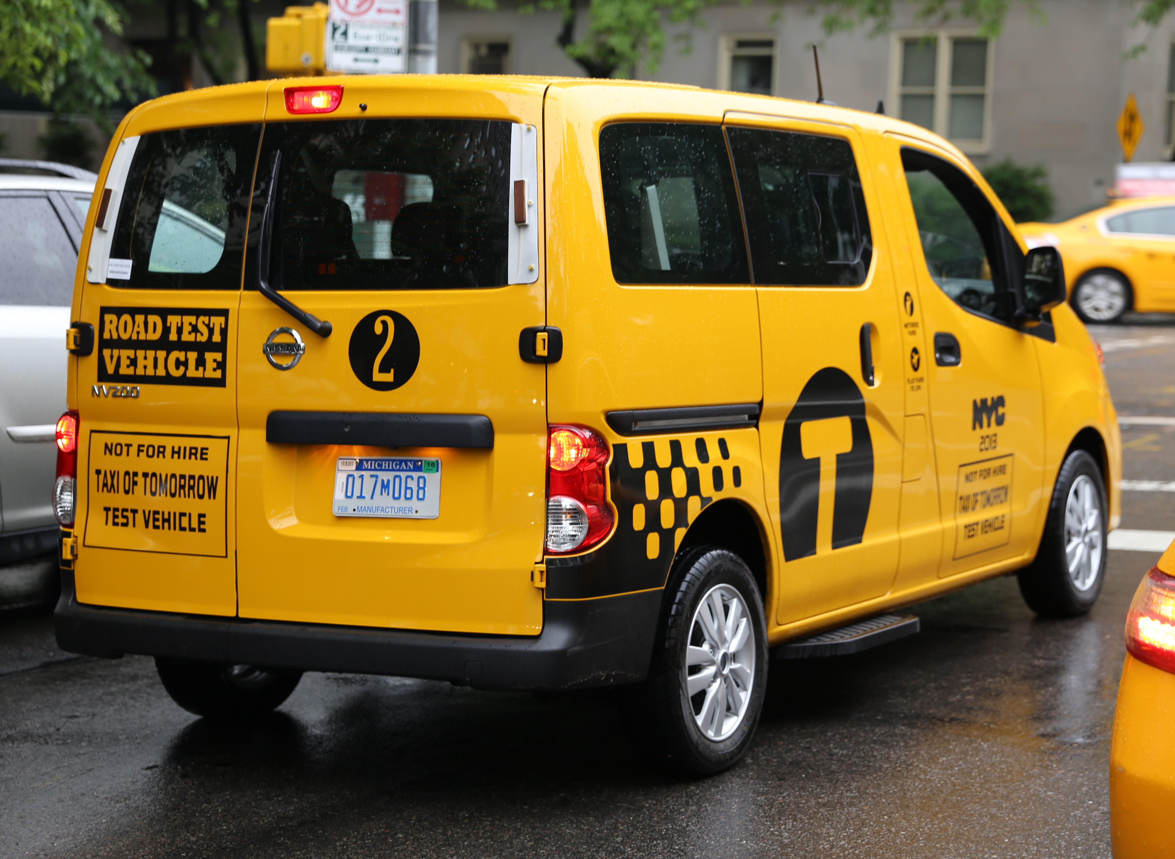 file nissan nv200 taxi of tomorrow test vehicle rear jpg wikimedia commons. Black Bedroom Furniture Sets. Home Design Ideas