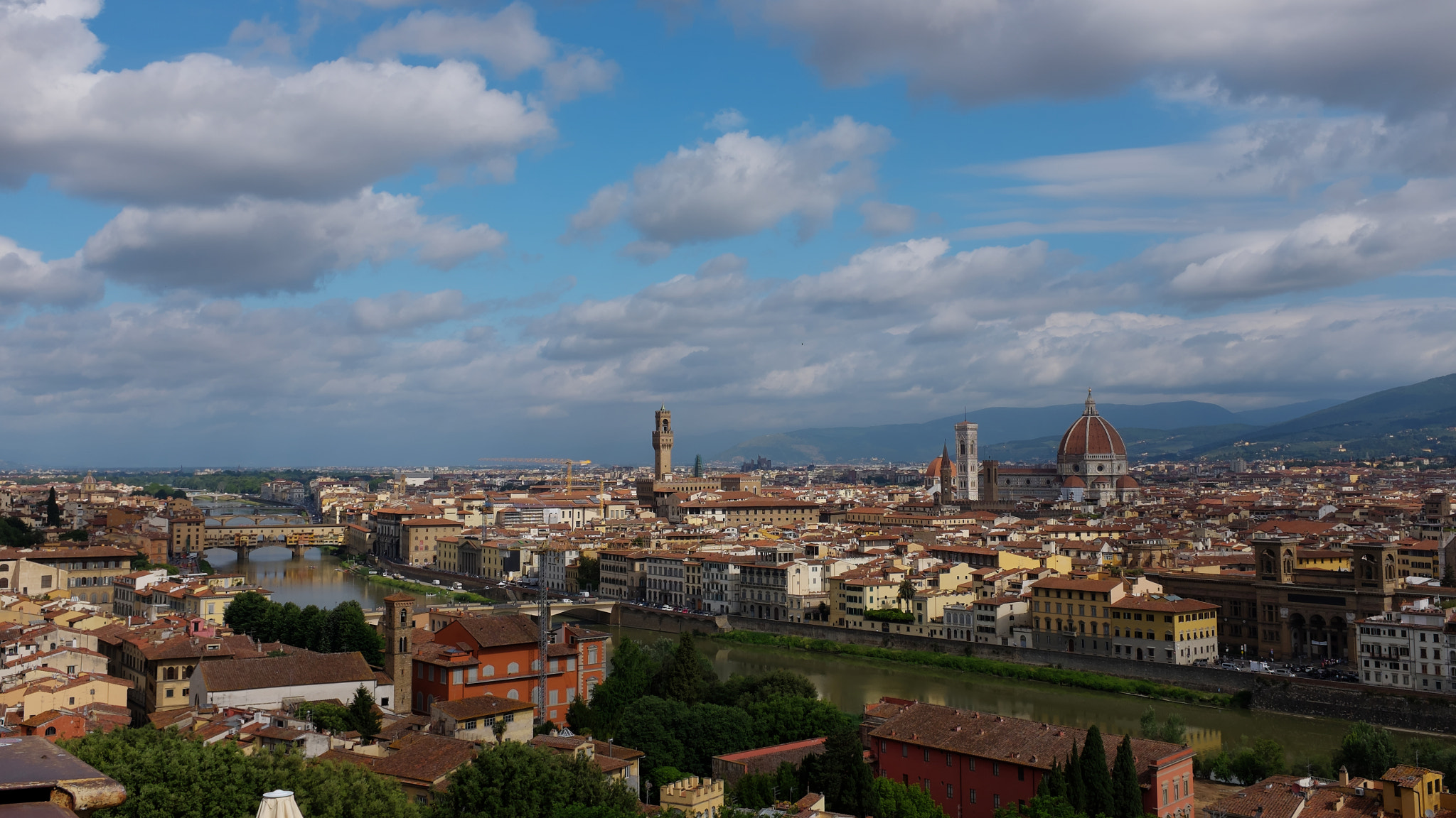Panoramic View of Firenze from Piazzale Michelangelo