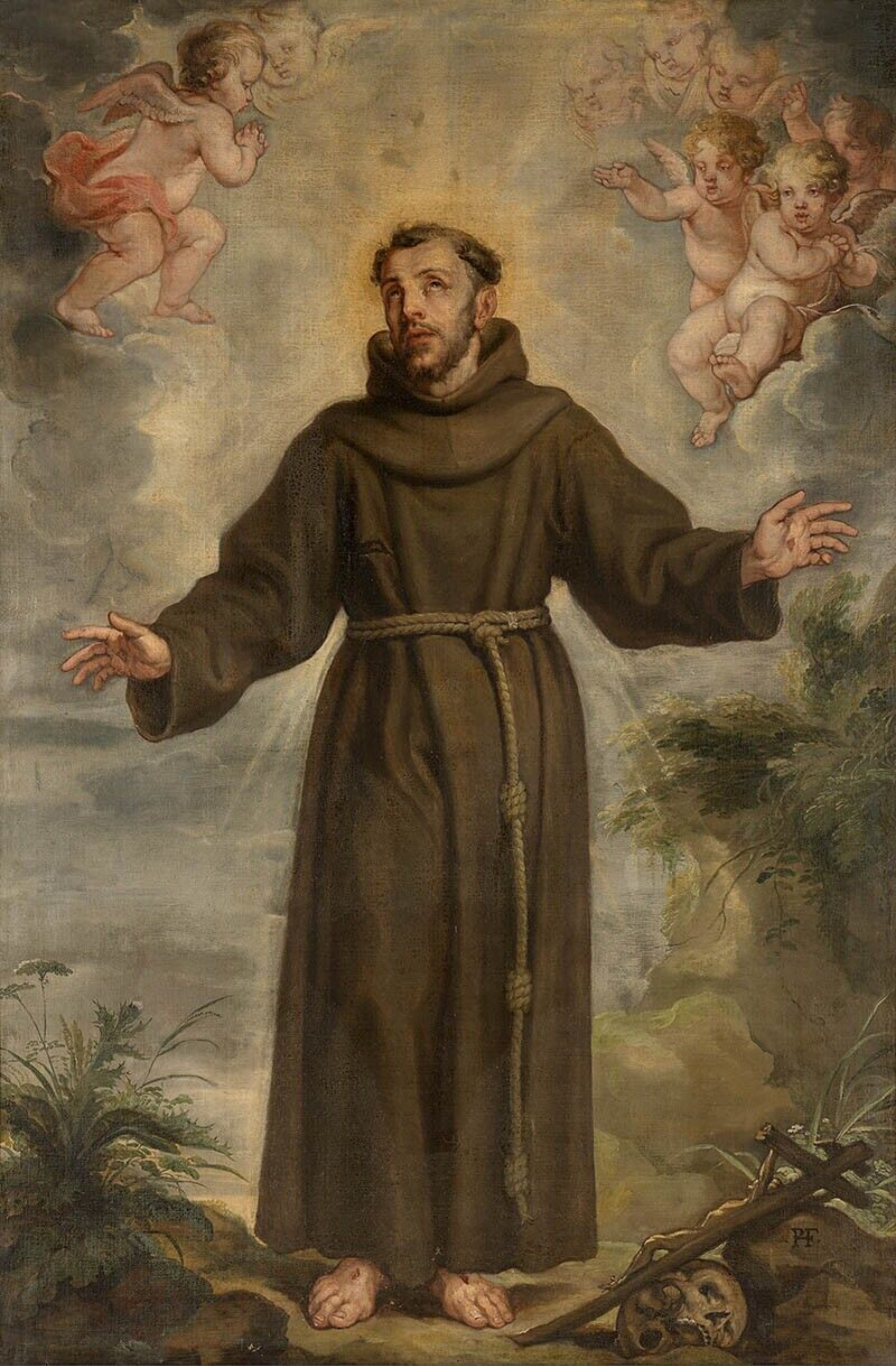 File Philip Fruytiers St Francis Of Assisi Jpg Wikimedia Commons