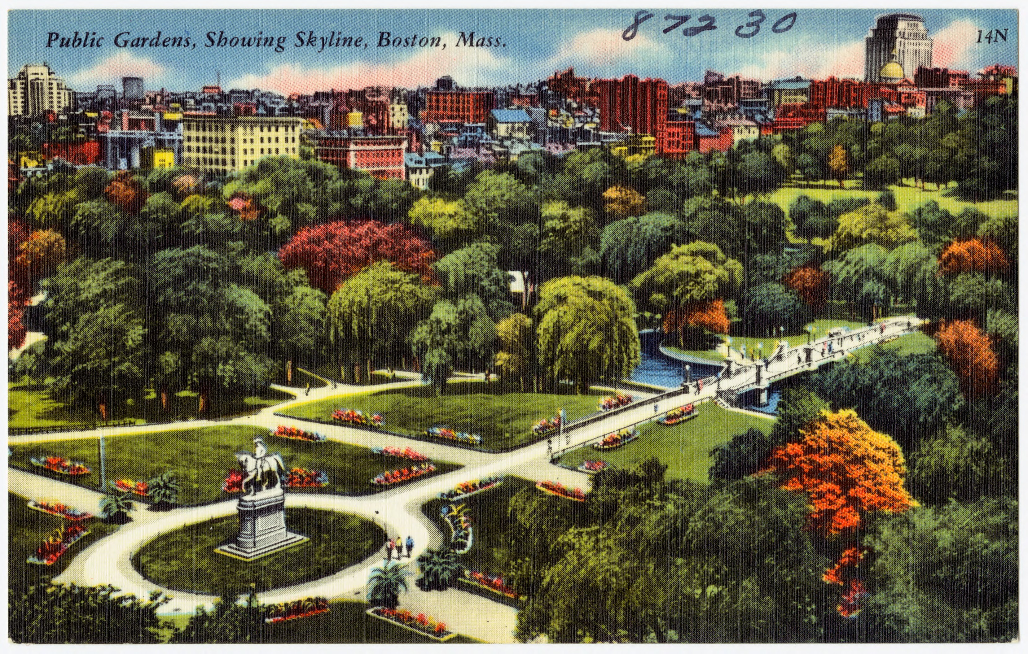 File:Public Gardens, showing skyline, Boston, Mass (87230).jpg ...