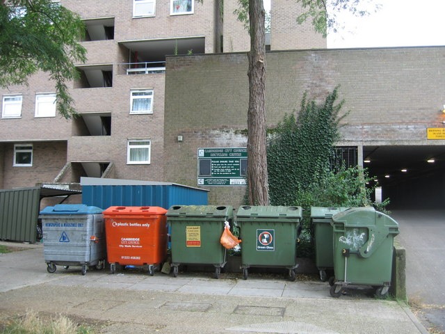 Recycling Centre - Hanover Court - geograph.org.uk - 974556