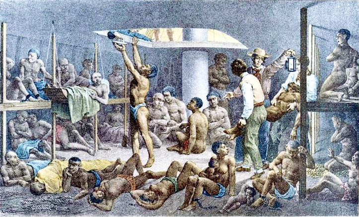 A history of the middle passage and the horrifying conditions of the life of african slaves