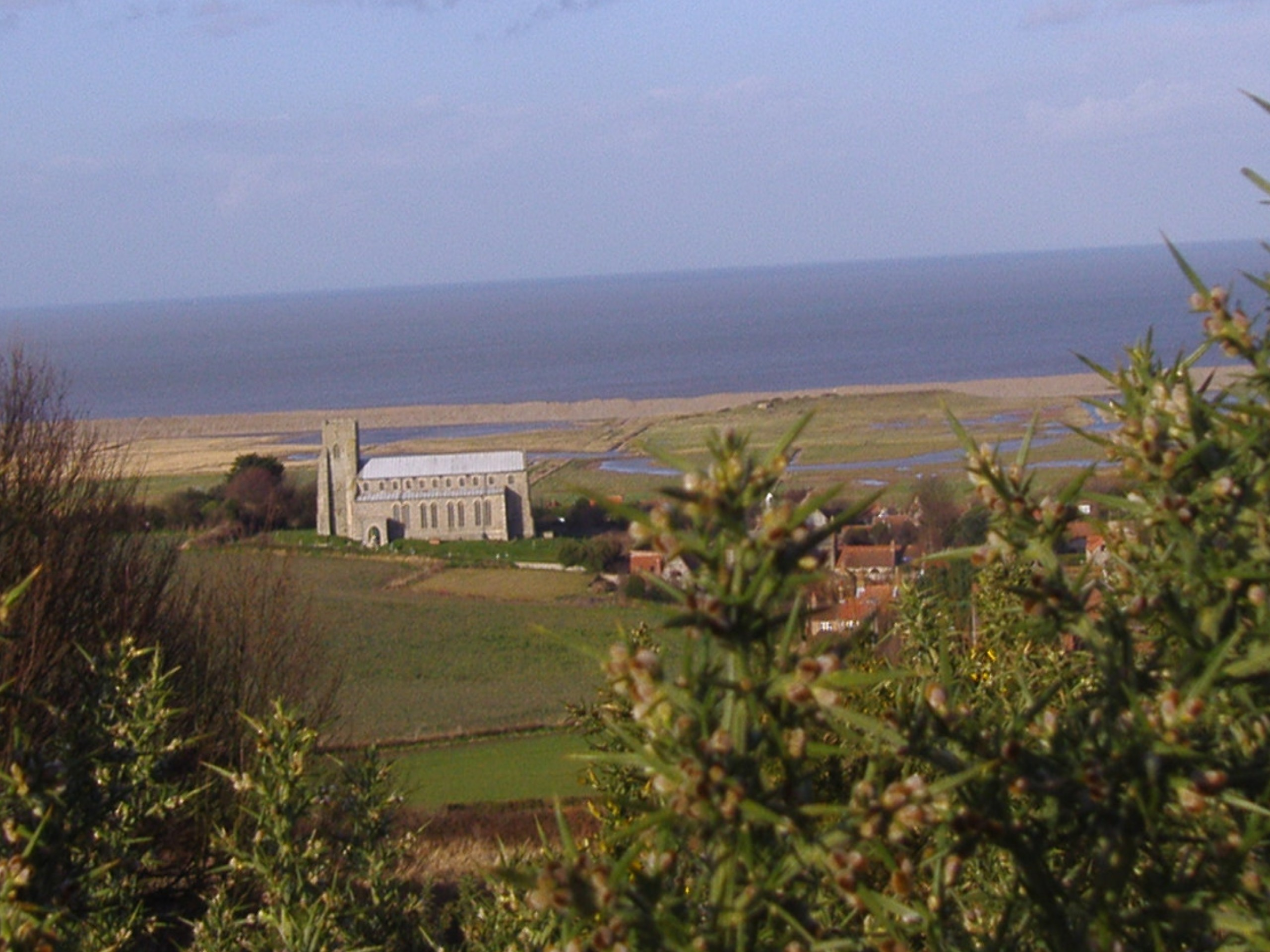 Salthouse Church in Norfolk, at the centre of a local Black Shuck tale