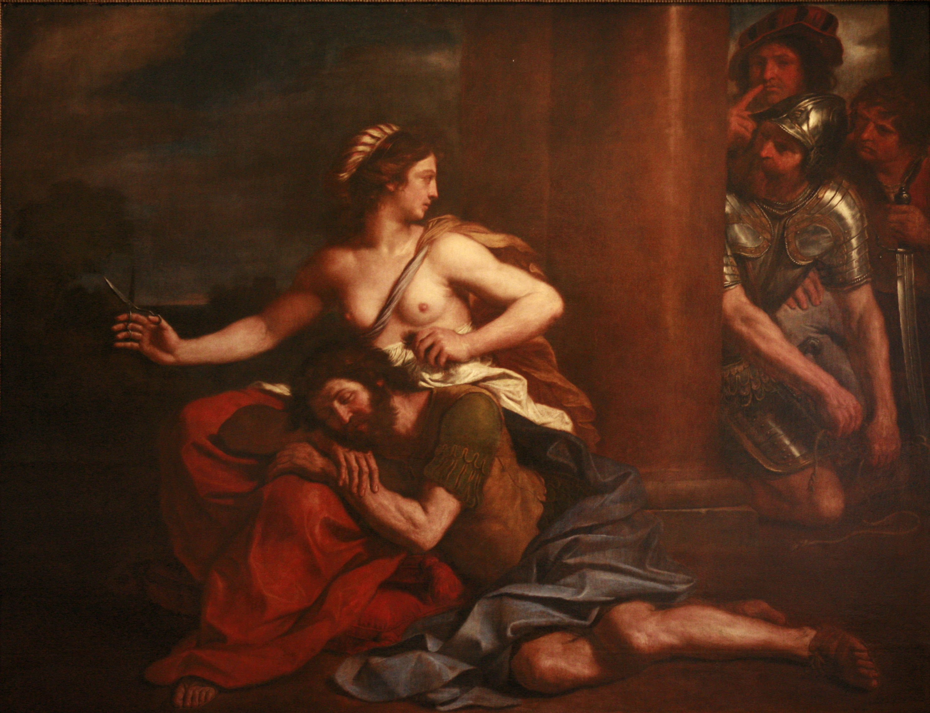 Samson And Delilah by Guercino