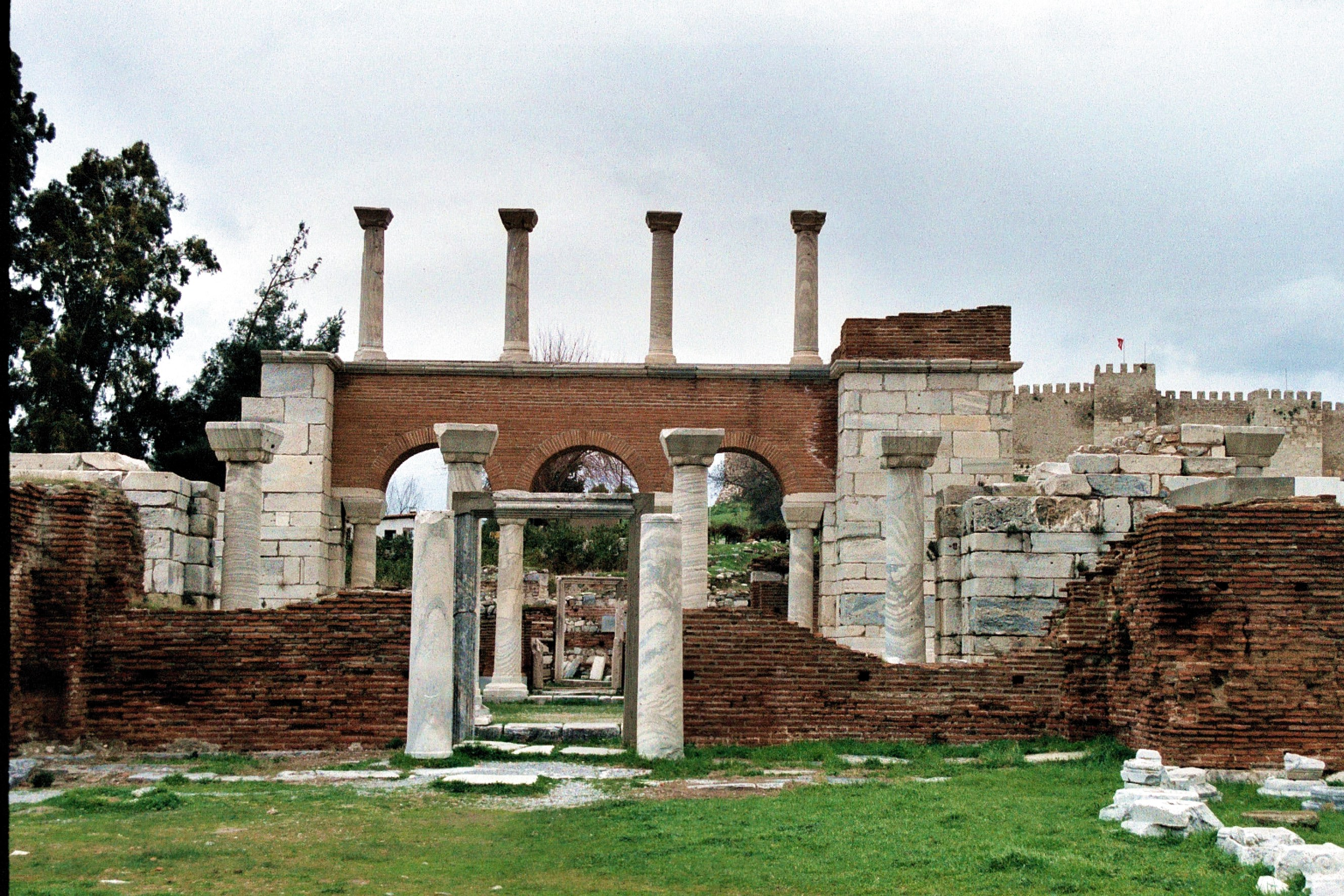File:Selçuk, the entrance to the Basilica of St. John.jpg ...