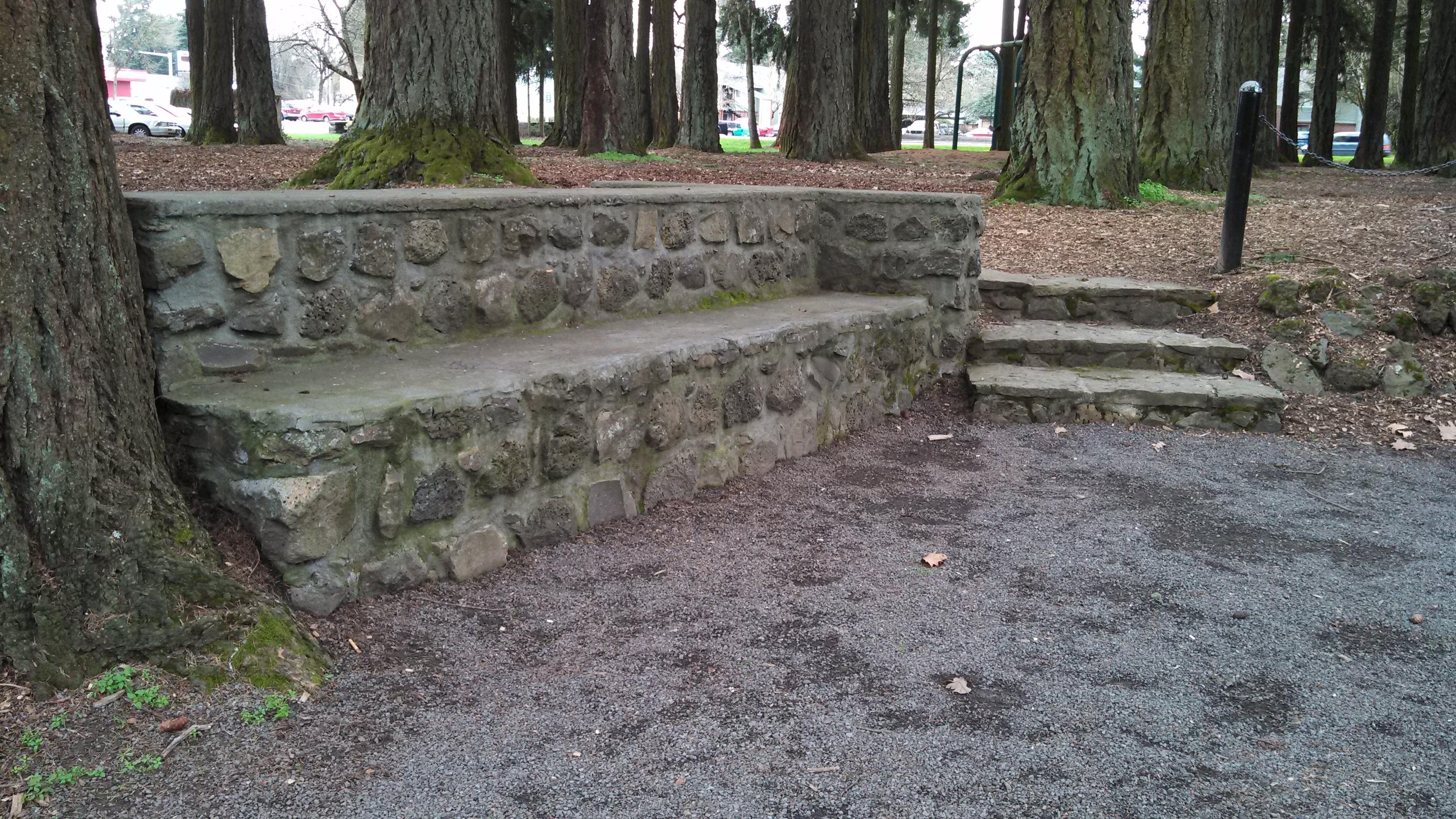 File Shute Park Stone Bench Hillsboro Oregon Jpg