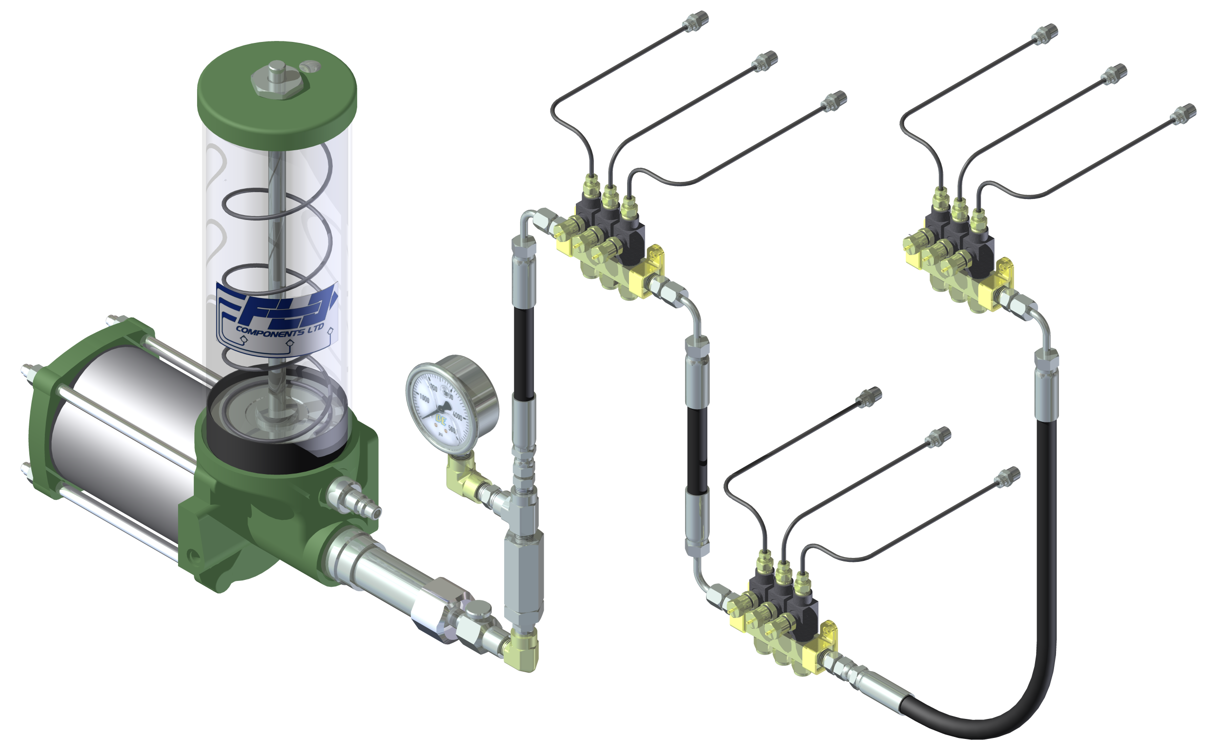 Types Of Lubrication Systems : File single line parallel automatic lubrication system