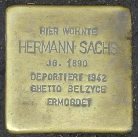 File:Stolperstein Georgenstraße 35, Eisenach-Hermann Sachs-CTH.JPG