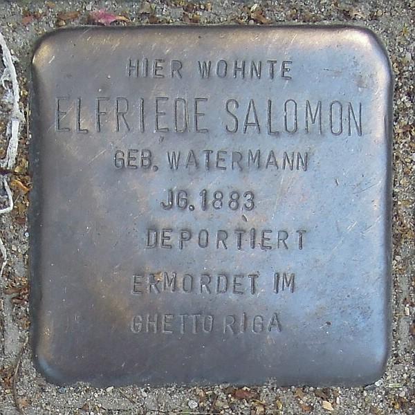 Stolperstein für Elfriede Salomon geb. Watermann