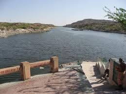 A picturesque view of Kaylana Lake, Jodhpur.