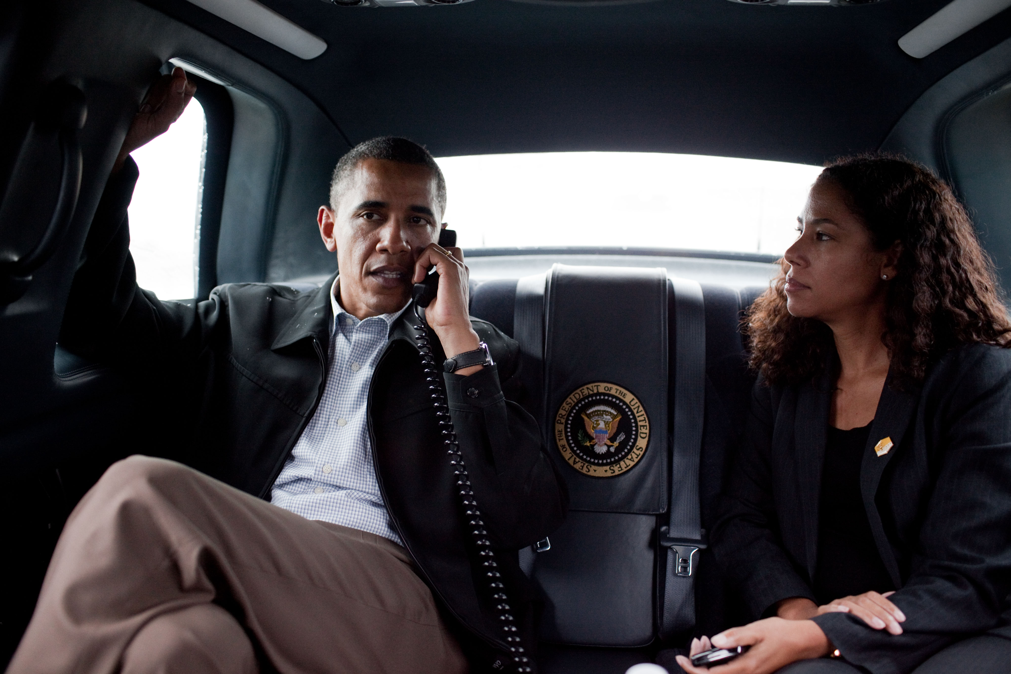 File Sutphen With Obama In Limo Jpg Wikimedia Commons