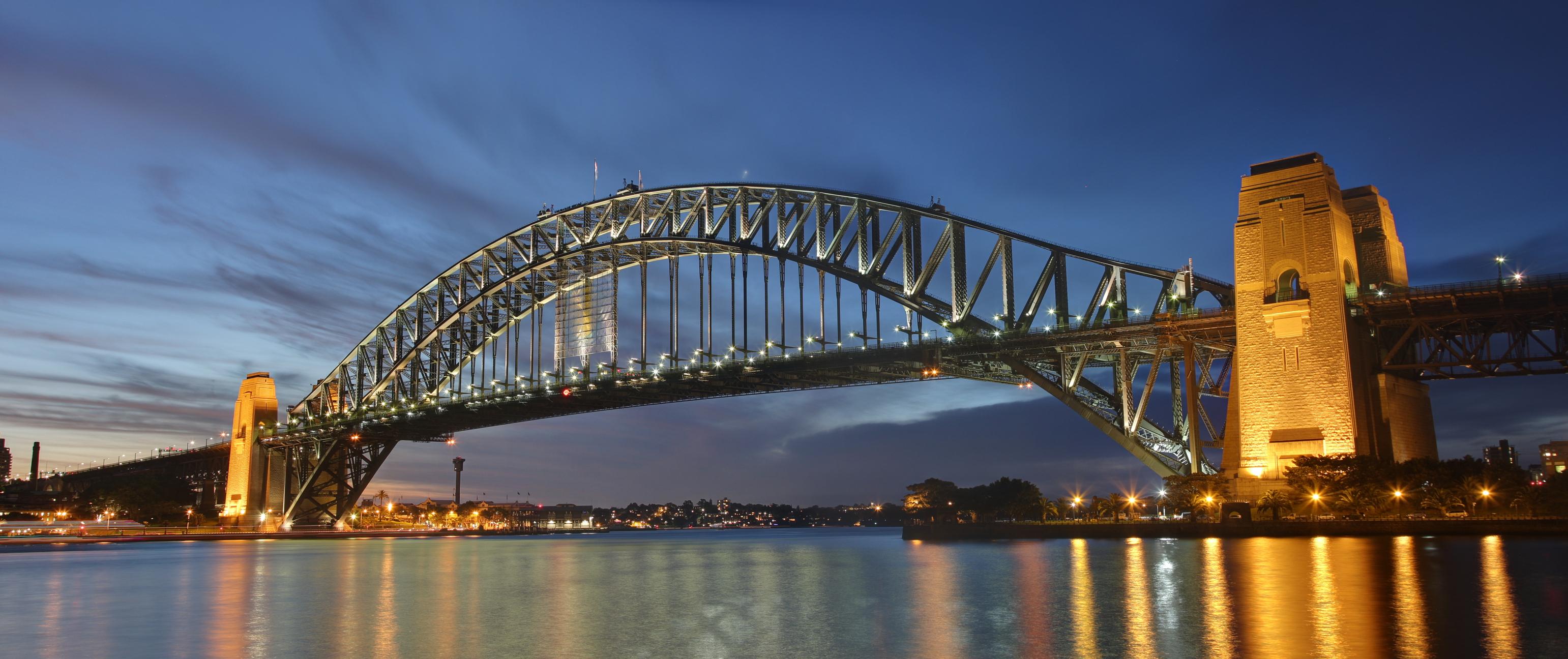Sydney harbour bridge dusk DÜNYANIN ÖTEKİ UCU AVUSTRALYA
