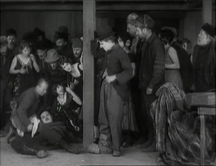 Malcolm Waite (knocked down by Chaplin's Tramp) in ''The Gold Rush'' (1925)