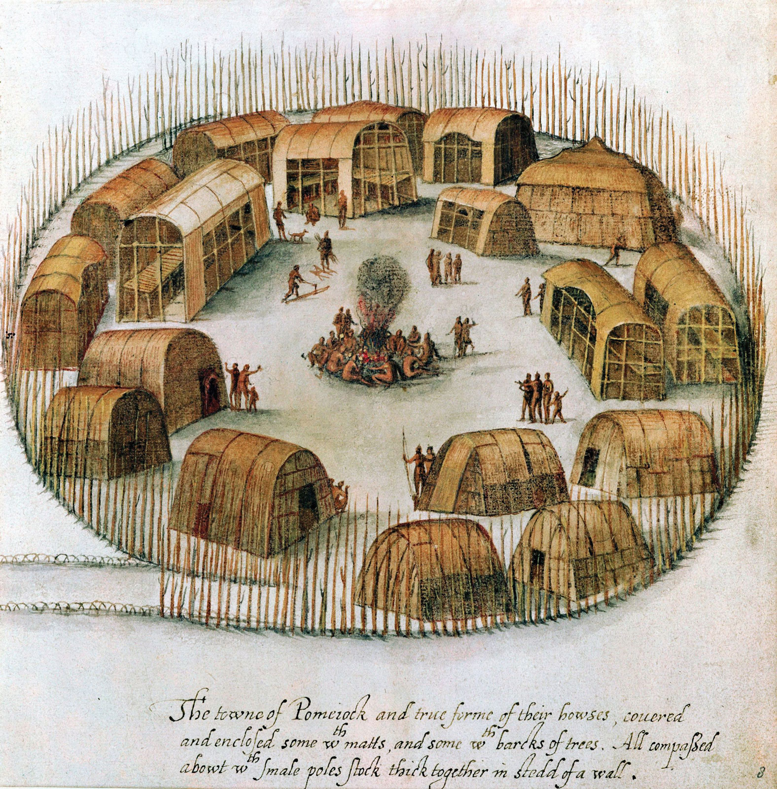 Algonquian peoples - Wikipedia, the free encyclopediaalgonquin village