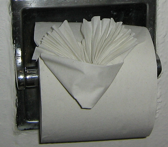 Hotel toilet paper folding - Wikipedia, the free encyclopedia