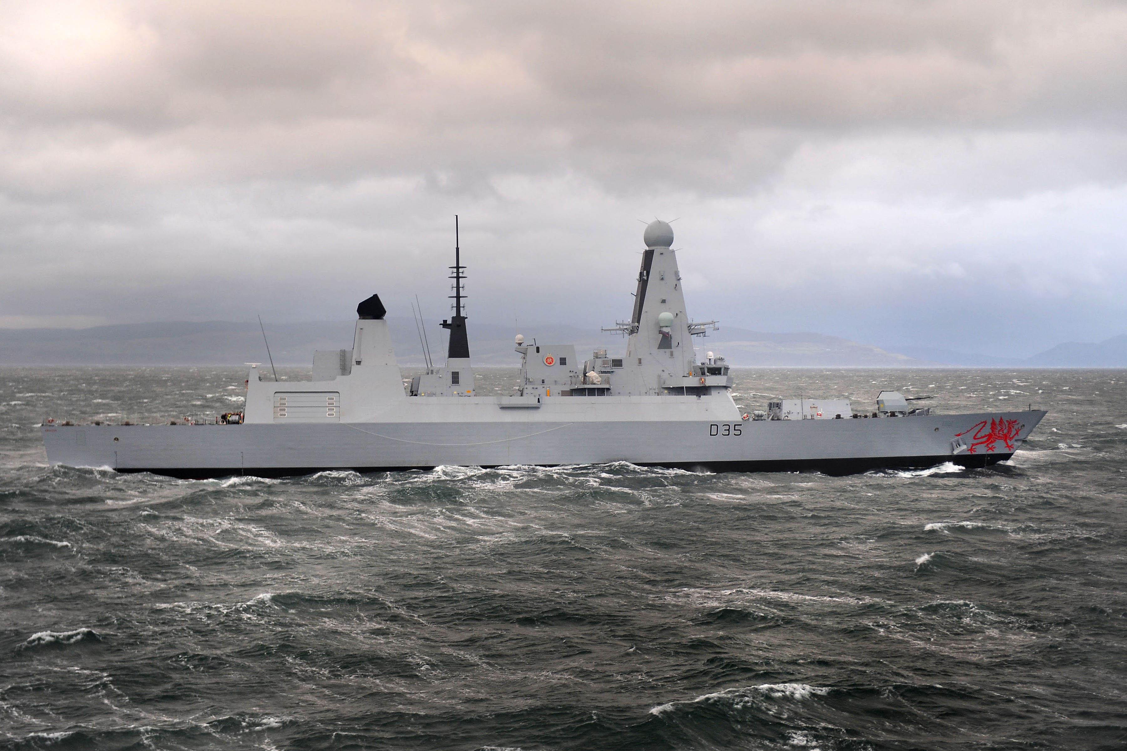 file type 45 destroyer hms dragon during pre acceptance