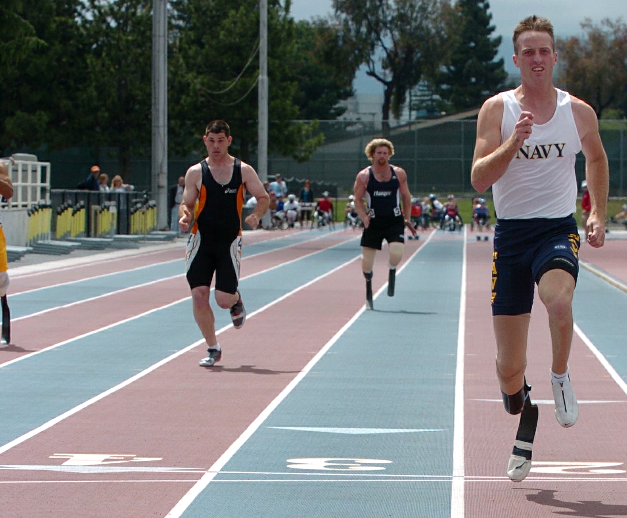 100 meter race while qualifying for the u s paralympics sprint team
