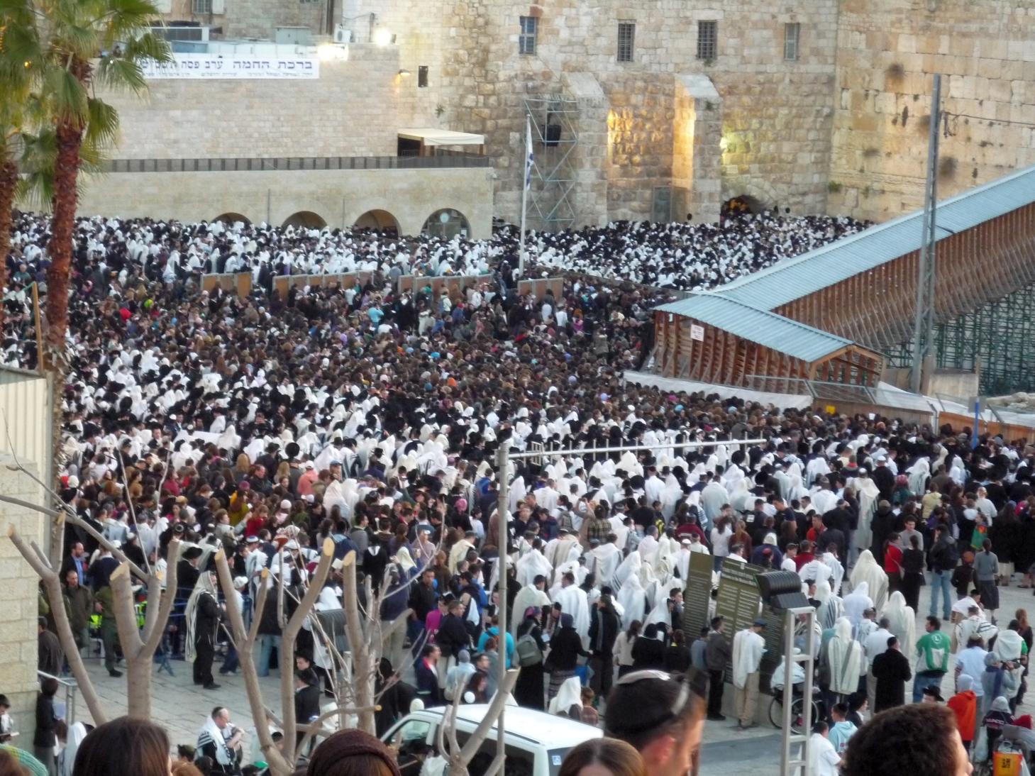Western Wall Birkat Hachama 8 April 2009 2