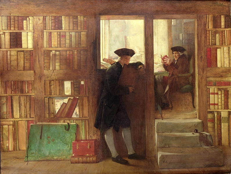 William Fettes Douglas - The Bibliophilist's Haunt or Creech's Bookshop.jpg