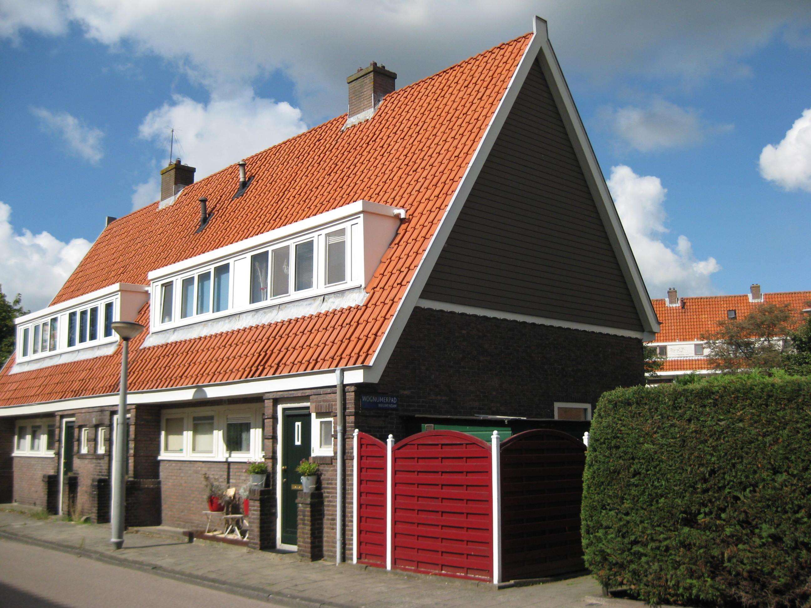 Blok met 4 keukenwoningen, zo genoemd vanwege destijds nieuwe ...