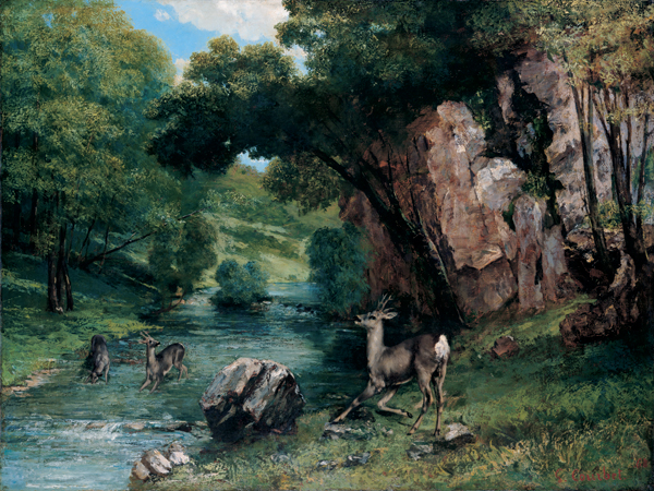 an analysis of jean desire gustave courbets painting hunting dogs